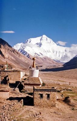 Mount Everest from Rombok Gompa, TibetCC BY-SA 3.0