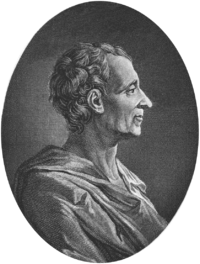 Charles Louis de Secondat, Baró de Montesquieu.