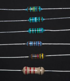 http://es.wikipedia.org/wiki/Archivo:6_different_resistors.jpg